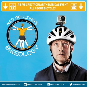 Friday 17th November at 7.30pmTickets -£21Journalist, television presenter and best-selling author Ned Boulting is back this Autumn with his acclaimed ride through the world of Bikeology, featuring brand new tales from life in the cycling lane, as well as the inside scoop from Ned's time at the 2017 Tour de France.  What drives the cyclist (apart from a sturdy, well-oiled chain) to such ecstasies of endurance? What curious, deep-rooted passions are aroused by the sight of a simple pair of padded shorts? And what on earth is a derailleur?  From the humble commuter to the winner of the Tour de France*, Boulting takes an off-centre look at what it means to ride abike, drawing on his own underwhelming adventures in the saddle to his fourteen summers spent hurtling around France in pursuit of the sport's biggest names including no less than Cavendish, Wiggins, Froome and of course Armstrong.  A breakneck descent through the history ofthe sport followed by a lung-bursting climb into the present day - all two-wheeled life is here. Keep your wits about you, as you might find yourself up on stage to compete in Ned's search for the nation's Number 1 Bikeologist! *Ned Boulting has never tested positive for performance enhancing substances
