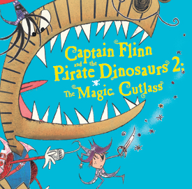 THE MAGIC CUTLASSThursday 5 April at 3pmTickets - £11, children - £10, family of four - £36 (the discount will automatically be applied in your basket)Flinn is back!  Les Petits theatre company return to the high seas after their hugely successful and award winning shows David Walliams' The First Hippo on the Moon and Captain Flinn and the Pirate Dinosaurs.The Magic Cutlass is the hugely anticipated sequel based on the book by Giles Andreae and Russell Ayto.When Flinn is in the middle of his school play his old nemesis, Mr T the T-Rex, appears and kidnaps his friends forcing them to hunt for the Magic Cutlass; a sword that grants any wish! The children are whisked away for another fantastic adventure to a world of devious dinosaurs, deep sea dangers and smelly sausages!