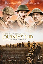 Monday 16 April at 7.45pmTuesday 17 April at 7.45pmWednesday 18 April at 7.45pmRunning time – 107 minutesDirector– Saul DibbStarring – Paul Bettany, Sam Claflin, Asa ButterfieldSet in a dugout in Aisne in 1918, it is the story of a group of British officers, led by the mentally disintegrating young officer Stanhope, as they await their fate.